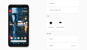 Black & White (panda) Google Pixel 2 XL is now back in stock
