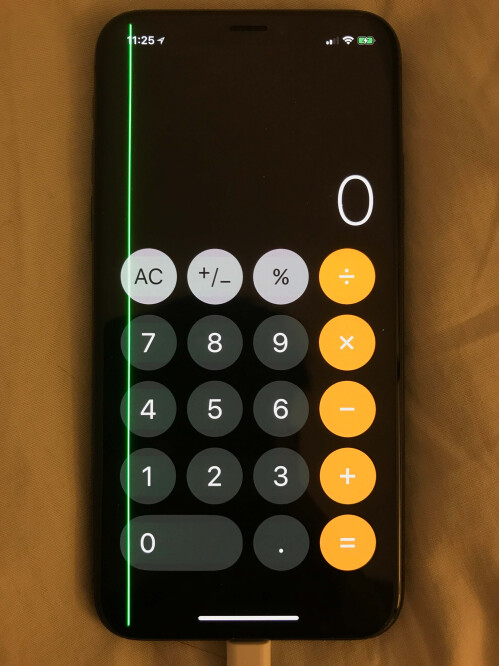 Some iPhone X units have a green line that shows up along one side of the display