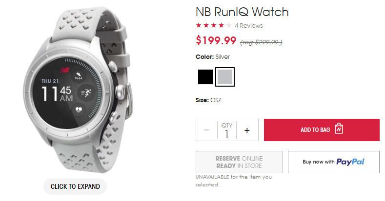 e68e1eb16e03d Deal: New Balance RunIQ smartwatch on sale for just $200 (33% off ...