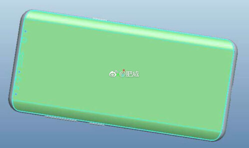 Samsung Galaxy S9 CAD drawings and PhoneArena renders