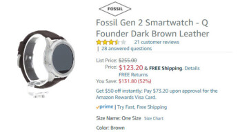 Deal: Get the Fossil Q Founder 2.0 Smartwatch at half price on Amazon