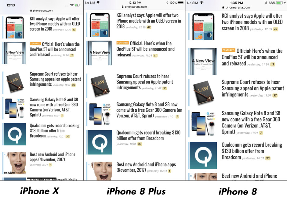 The new aspect ratio of the iPhone X does fit more content than the iPhone 8 on one screen, but it depends on the scaling, too, while video display compatibilityis in favor of the legacy design - What's your preferred phone screen aspect ratio? (poll results)