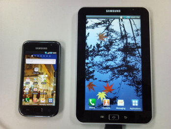 Samsung Galaxy Tab Android powered tablet looks like a super sized Galaxy S