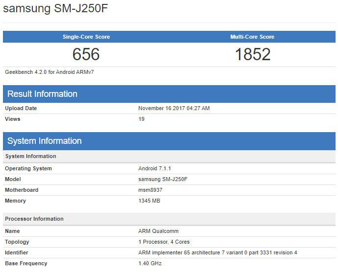 Samsung Galaxy J2 Pro (2018) alleged specs confirm it's an