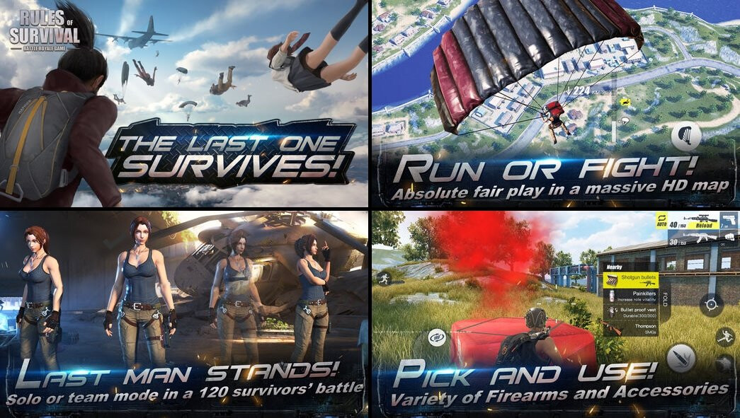 Android and iphone battle royale games like playerunknown - Rules of survival wallpaper android ...