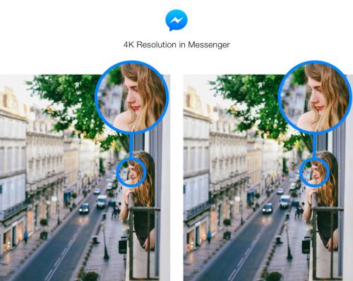 Mit Facebook Messenger können Sie hochauflösende 4K-Bilder senden und empfangen
