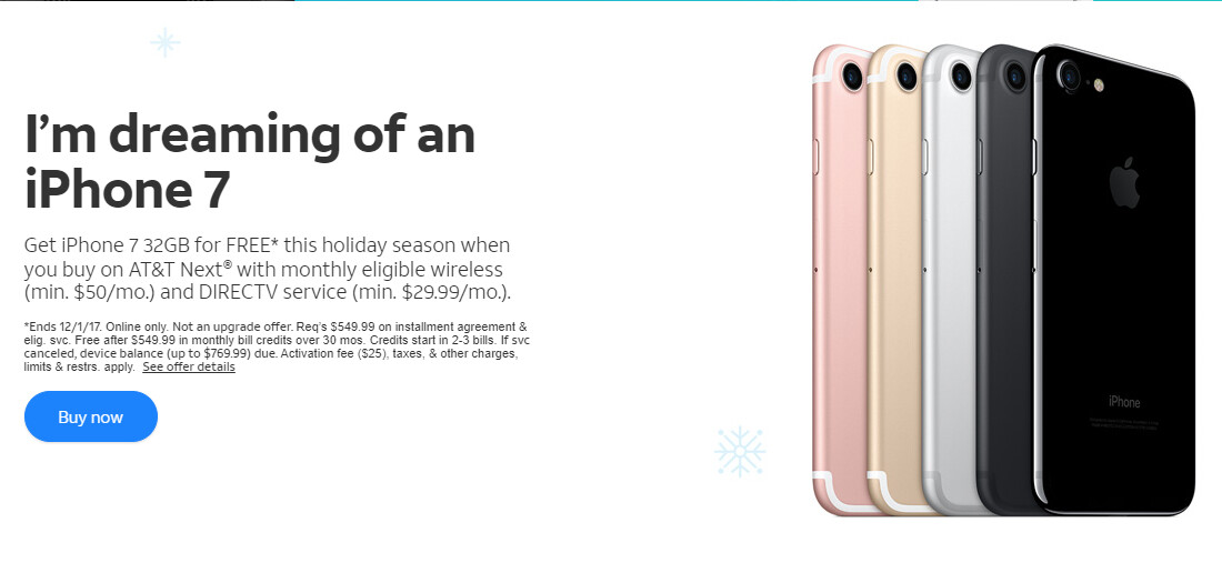 AT&T Black Friday deals include iPhone 7 BOGO