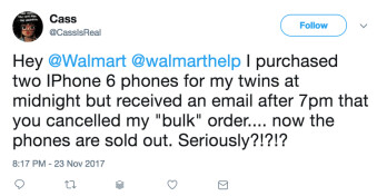 Walmart customer loses out on iPhone 6 sale