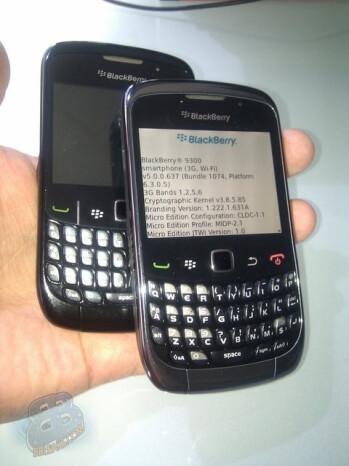 Spy shots of the BlackBerry Curve 9300 Kepler indicate that 3G is on board
