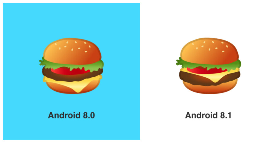 Oh, Google, how could you mess up something so simple, so sacred? - Google fixes burger and beer emojis in Android 8.1
