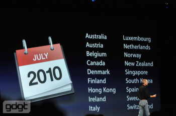 Countries that will soon see the iPhone 4