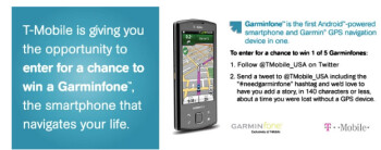 Not too late to win one of 5 Garminfone smartphones from T-Mobile