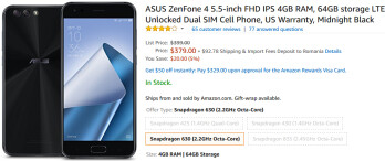 Brand new Asus ZenFone 4 is already slightly cheaper than at launch