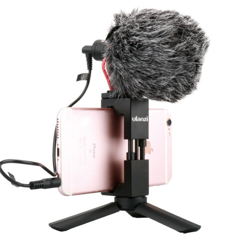 BOYA Video Microphone with Handle Grip Tripod