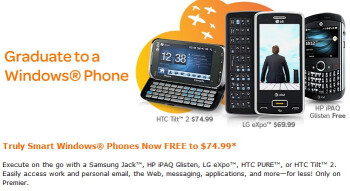 "AT&T is throwing a sale on its Windows Mobile handsets for ""premier"" customers"