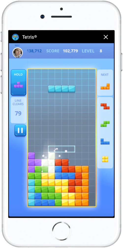 Tetris for Facebook Meseenger