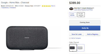 Google Home Max could go on sale on December 11 for $399