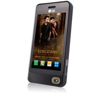 Diehard Twilight fans will have to check out France for the LG GD510 Twilight Edition phone
