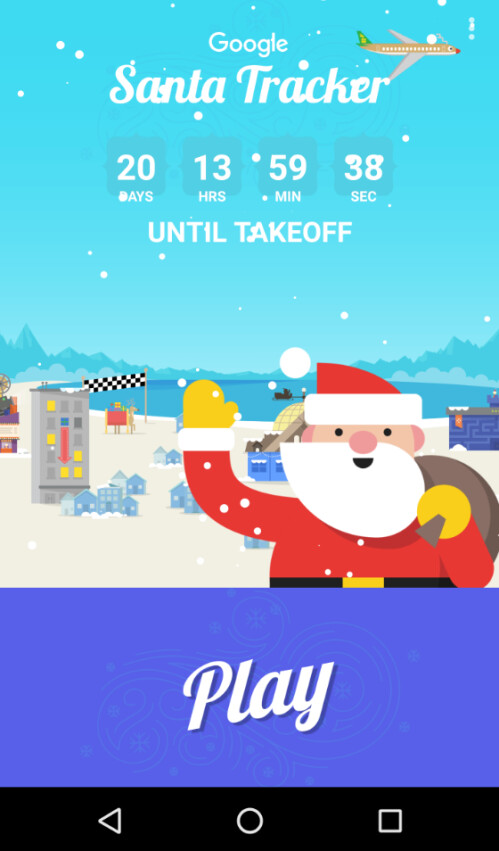 Countdown timer ticks down toward Christmas Eve