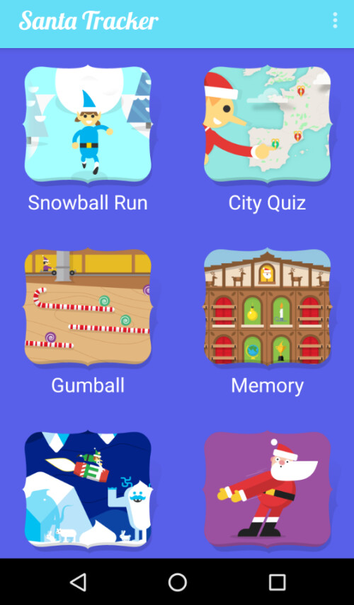 Some of the games on the app