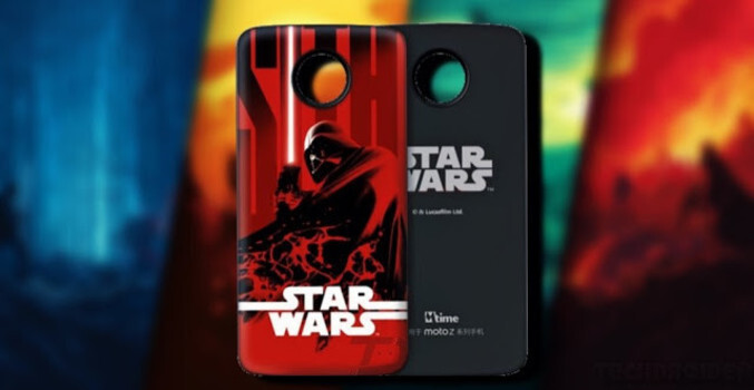 Motorola will offer a limited edition Star Wars themed Style Shell in China - May the Moto Z Force be with you; a Star Wars Moto Mod is coming, but only to China
