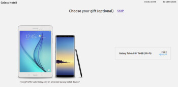 Deal: Buy an unlocked Samsung Galaxy Note 8 and get a free Galaxy Tab A8