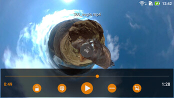 360-degree video support