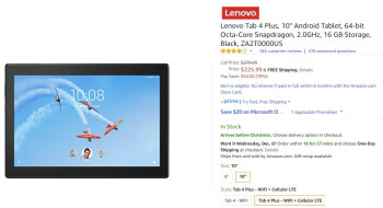 Deal: Save more than $50 (20 ) when you buy the Lenovo Tab 4 Plus 10-inch on Amazon