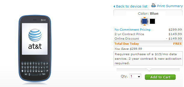 Palm Pixi Plus now free from AT&T