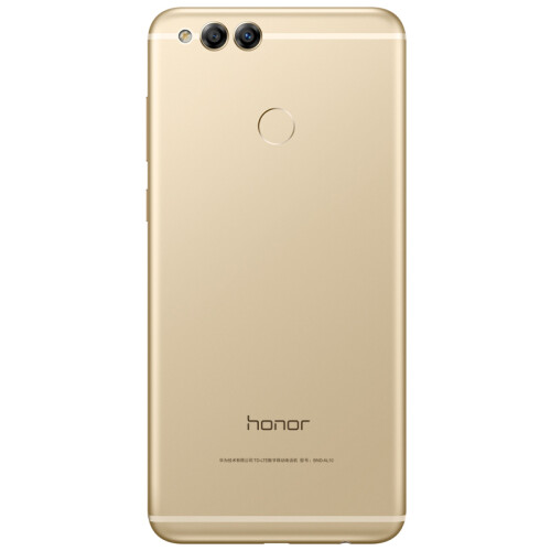 Honor 7X in blue, black, and gold