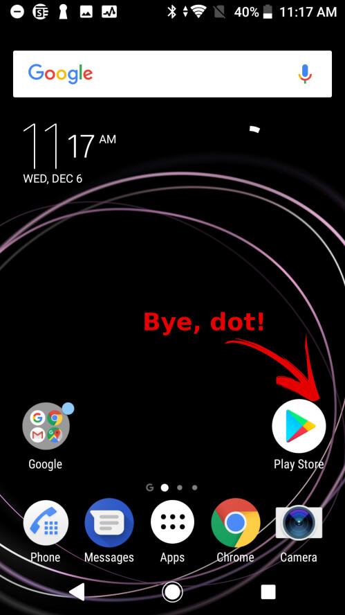 Bye, dot!