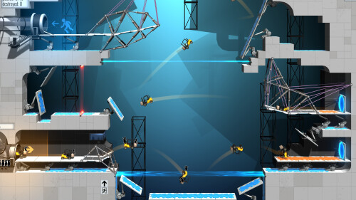 Revisit the wonderful world of Valve's Portal with Bridge Constructor Portal
