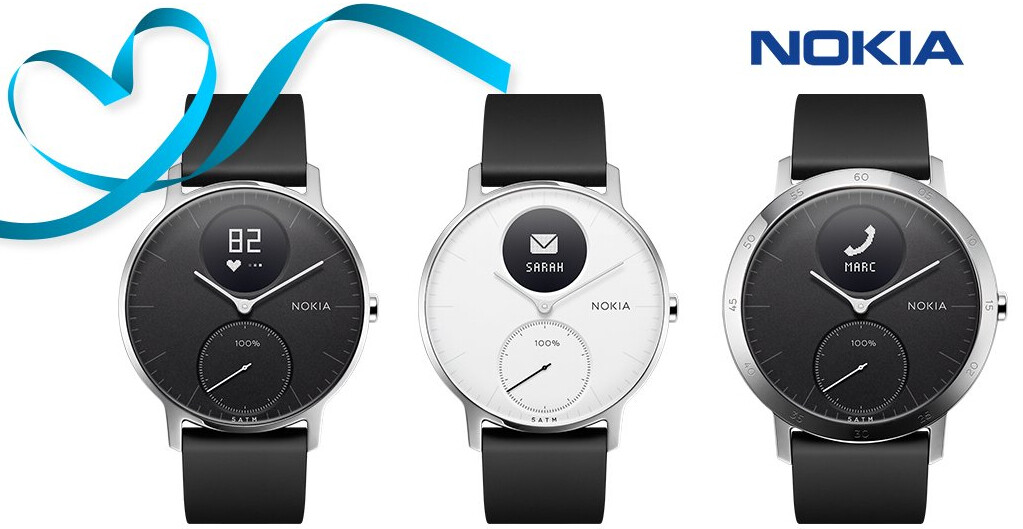 Nokia's Steel HR hybrid watch (compatible with Android and ...