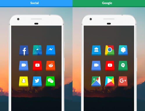 3D Shaped Icons