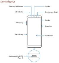 Samsung Galaxy A8 (2018) layout