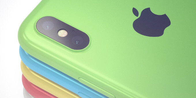 """iPhone """"Xc"""" concept shows what a cheaper, colorful and plastic iPhone X could look like"""