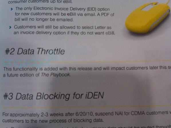 Is Sprint planning on throttling data starting this summer?
