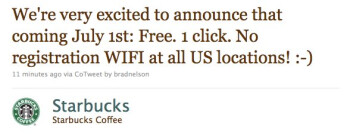 Starbucks plans to make Wi-Fi public to everyone at all locations starting July 1