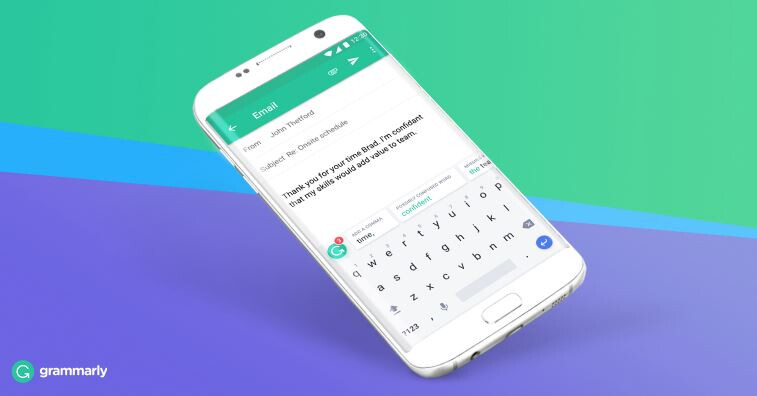 Grammarly spelling and grammar checking keyboard app is now