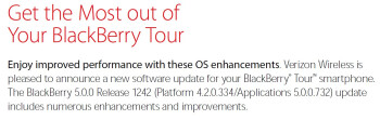 Is Verizon rolling out OS 5.0.0.732 to the BlackBerry Tour 9630?