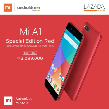 The Special Edition of the Xiaomi Mi A1 is available in a vibrant, vivid red color