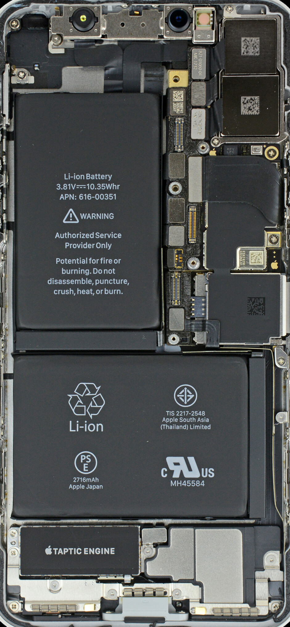 The L-shaped batteries of the Xs and Xs Plus will likely still be 2-cell, with a separator - Apple iPhone Xr vs iPhone Xs: all major differences to expect
