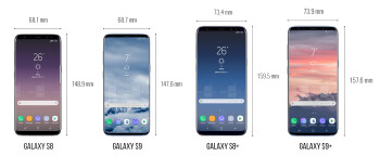 Samsung Galaxy S9/S9+ vs iPhone X vs Pixel 2 XL and the best of the rest: preliminary size comparison
