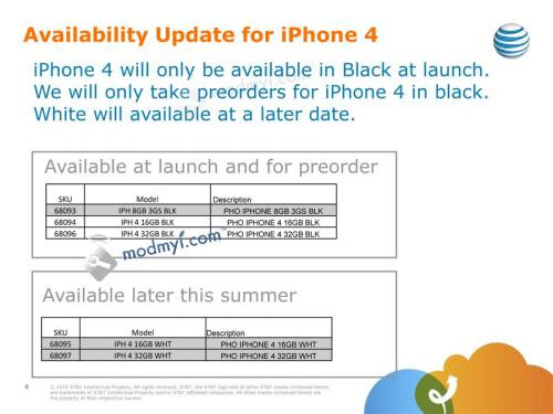 Apple iPhone 4 available in black only until later this summer