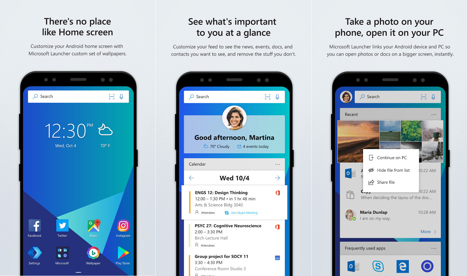 Microsoft Launcher update brings support for bigger icon layouts ...