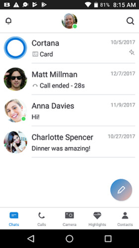 Skype for Android updated