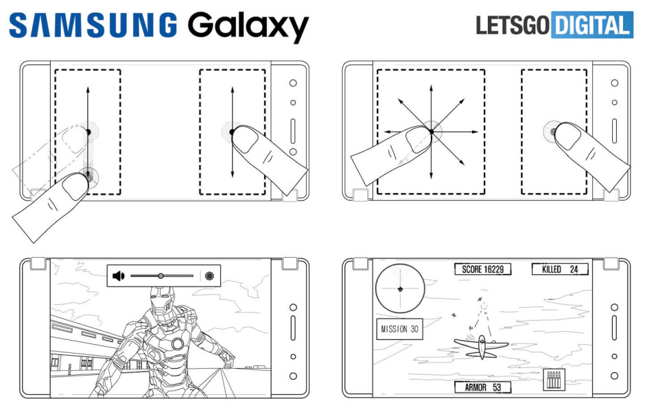 Samsung's new patent shows foldable smartphone reminiscent of ZTE Axon M