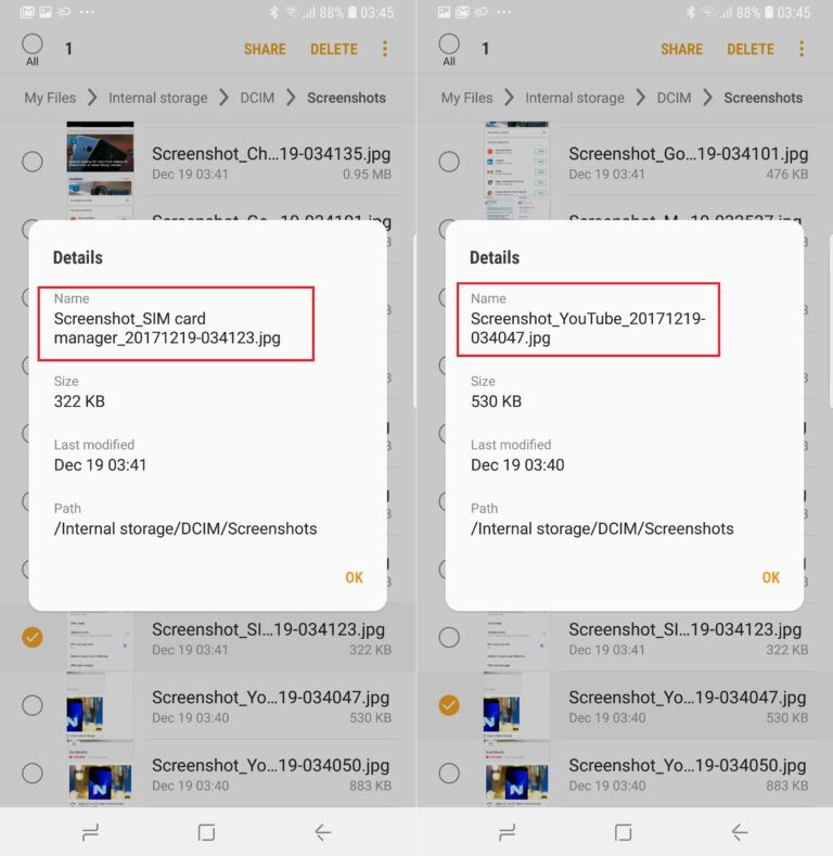 Samsung phones on Oreo will give descriptive file names to screenshots
