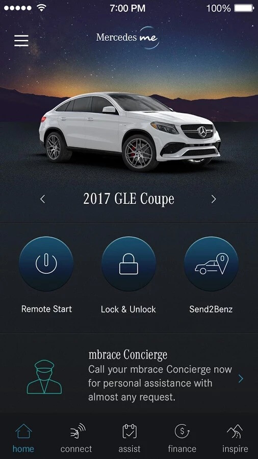 Command your car with an app remote start unlock for Mercedes benz remote start app