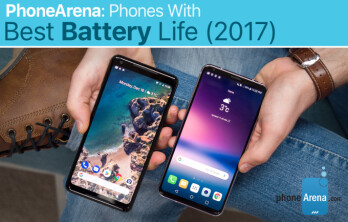 Which phone has the best battery life in 2015, 2016 and 2017?